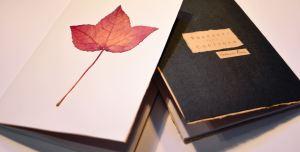 foglie quaderno handmade